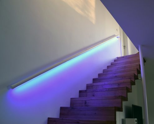 Moderne Treppenlösungen / LED Geländer